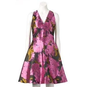 Ronni Nicole   Black Fuchsia Floral Cocktail Dress